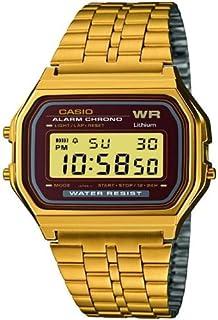 amazon com casio general men s watches standard active dial a casio retro a159wgea 5ef herren mens unisex uhr watch montre orologio