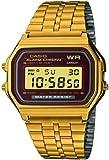 Casio Vintage Collection Digital Unisex Bracelet Watch (Gold)
