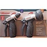 Gilmour Garden Hose Nozzles Set, High Pressure Sprayers, 7 Water Patterns - Set of 2