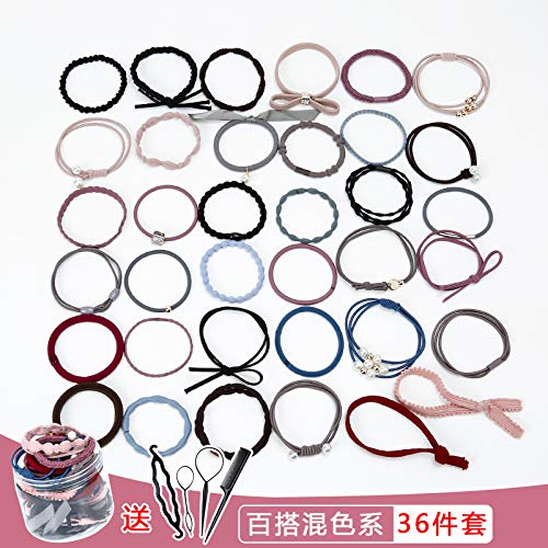 Price comparison product image OLIJU Wholesale Baby Hair Band Rubber Crown Children tie Girls Accessories Rope (Mixing Sets 36