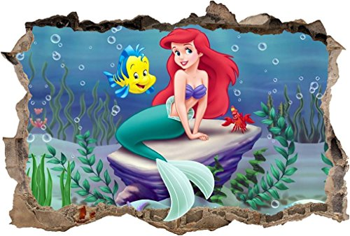 THE LITTLE MERMAID Smashed Wall Decal Removable Wall Sticker
