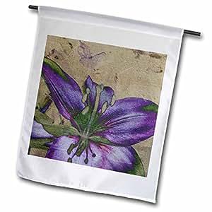 Patricia Sanders Flowers - Purple Lily- Floral Art- Nature- Flowers - 18 x 27 inch Garden Flag (fl_37944_2)