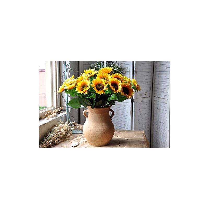 silk flower arrangements charmly artificial sunflowers 5 pcs long stem fake sunflowers artificial silk flowers for home hotel office wedding party garden decor 23.5'' high