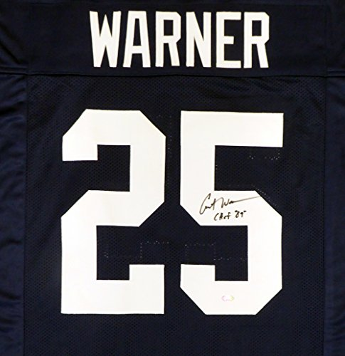 09 Replica Jersey (Penn State Nittany Lions Curt Warner Autographed Blue Jersey