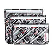 Bumkins Reusable Clear Travel Bag 3 Pack, Nintendo, NES Controller