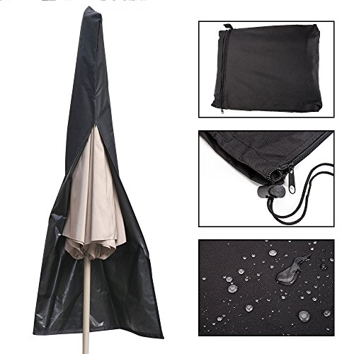 Patio Umbrella Covers With Zipper: Scorpiuse Patio Umbrella Cover Waterproof 600D Oxford With