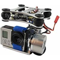 powerdayDJI Phantom RTF Gopro Hero3 Gimbal Brushless Camera Mount Aluminum gimbal kit Sliver&LD2208 gimbal motor&AlexMos BGCV2.3B5 gimbal controller & sensor