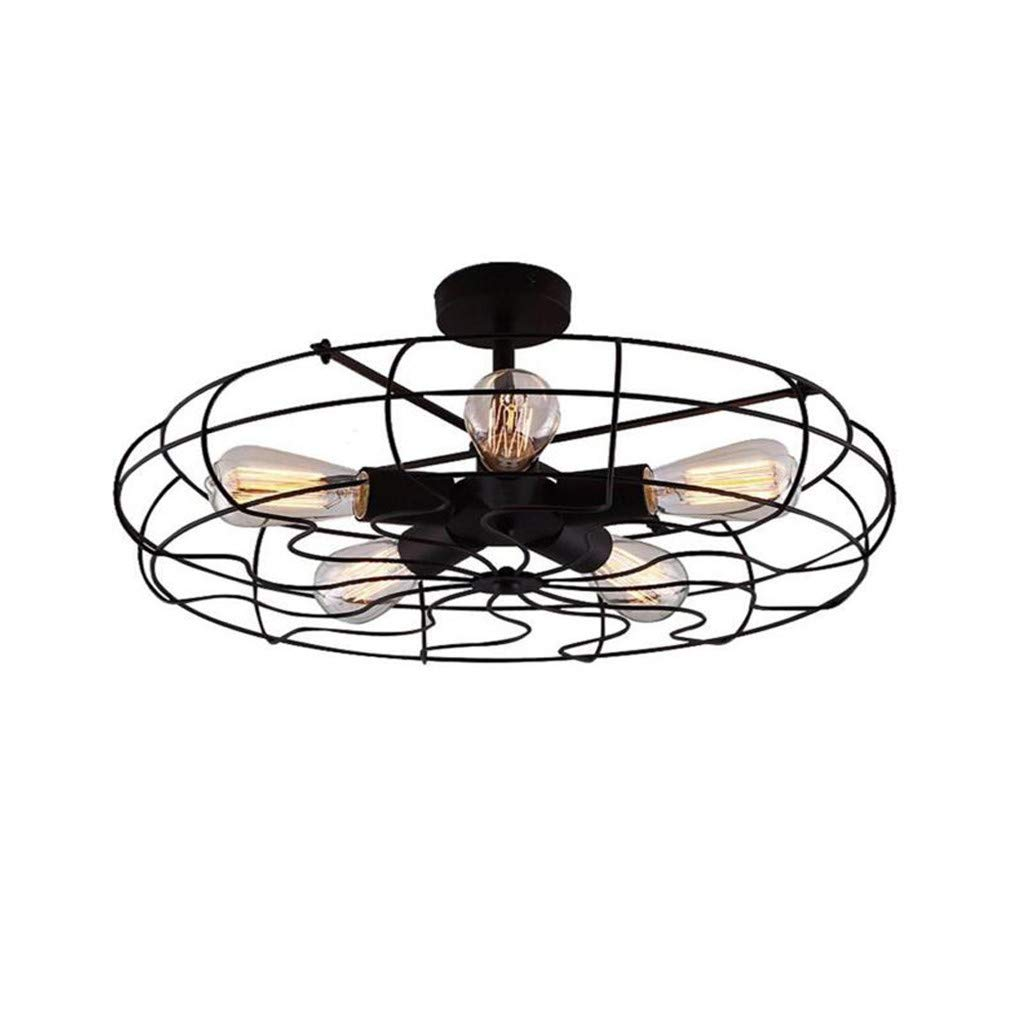 WONdere Metal Ceiling Light Pendant Lighting Industrial Vintage Style Electric Fan Ceiling Lamp Black