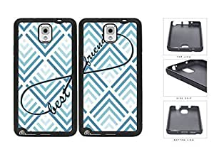Blue Chevron Best Friends Set Rubber Silicone TPU Cell Phone Case Samsung Galaxy Note 3 III N9000 N9002 N9005