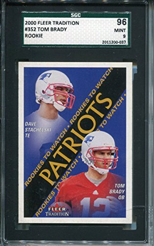 Tom Brady Unsigned 2000 Fleer Tradition Rookie Card (2000 Fleer Tradition Rookie Card)