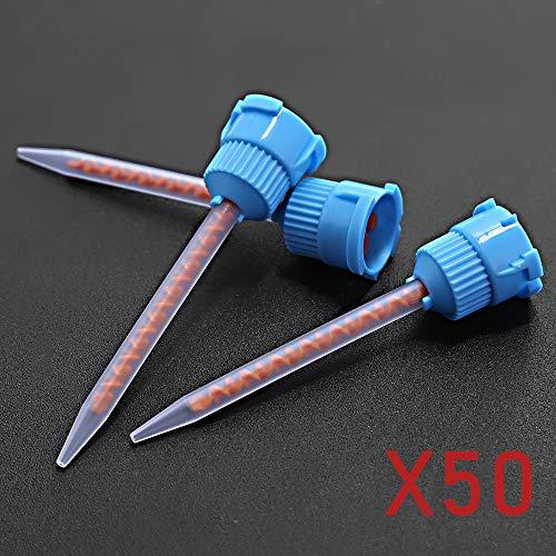 Dental Impression Crown and Bridge Mixing Tips Dental Temporary Material 10:1 Blue/Orange (50-Pack)
