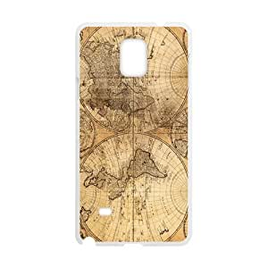 Canting_Good Retro world map Custom Case Shell Skin for SamSung Galaxy Note4 (Laser Technology) by lolosakes