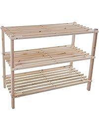 wood shoe rack storage bench closet bathroom kitchen entry organizer