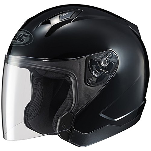 HJC CL-Jet Solid Open Face Helmet Gloss Black LG