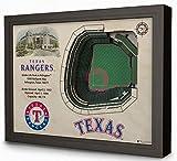 Texas Rangers MLB Globe Life Park 3D StadiumView Wall Art
