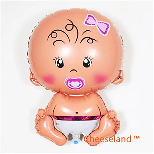 Cheeseland™-31''Baby shower mylar balloons, baby girl, cute