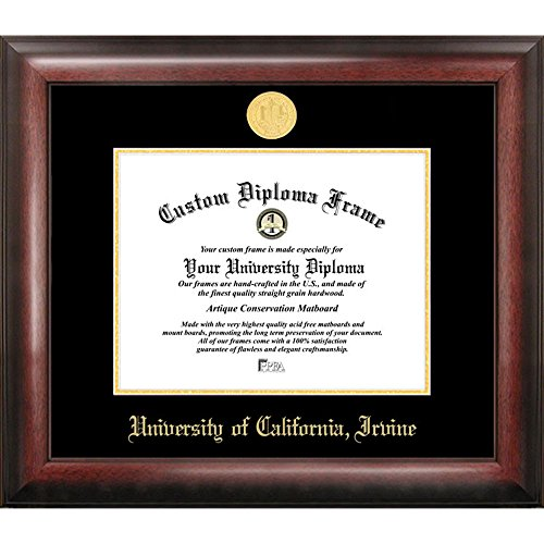 University of California, Irvine Gold Embossed Diploma Frame by Landmark Publishing