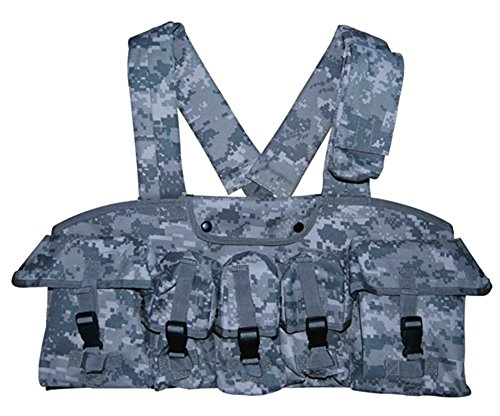 Ultimate Arms Gear ACU Digital Camouflage 7-Pouch Chest Rig For Springfield Armory M1A M1-A Garand/Carbine Socom (Acu Chest Rigs)