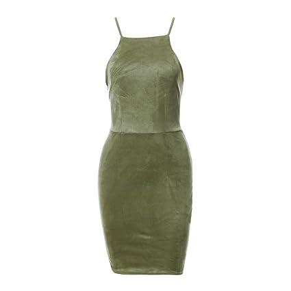 Vestidos de noche cortos color verde
