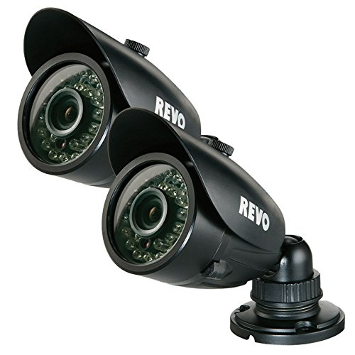 REVO RCBS30-3BNDL2N 700 TVL Indoor-Outdoor Bullet Surveillance Camera with 100 ft. Night Vision - 2-Pack - BNC Conversion Kits - Revo Price