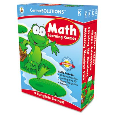 Math Learning Games, Four Game Boards, 2-4 Players, Grade K, Sold as 1 Each