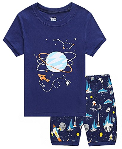Family Feeling Space Little Boys Shorts Set Pajamas 100  Cotton Clothes Kids 6