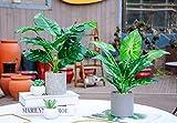 "WUKOKU 2pcs Fake Plants 16"" Faux Plants Artificial"