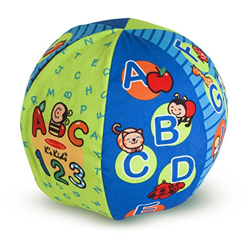 Melissa & Doug K's Kids 2-in-1 Talking Ball Educational Toy - ABCs and Counting 1-10 (7 1 4)