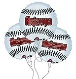 Arizona Diamondbacks Baseball Mylar Balloons - 3 Pack