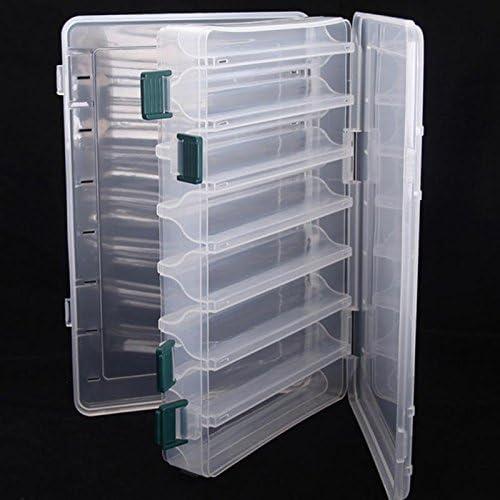 Marca nuevo doble cara alta calidad caja de pesca spinner cebo Minnow Popper 14 compartimentos caja de aparejos de pesca: Amazon.es: Hogar