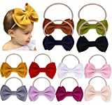 Baby Girl Nylon Headbands Newborn Infant Toddler Hairbands Bow Knotted Children Soft Headwrap Hair Accessories: more info