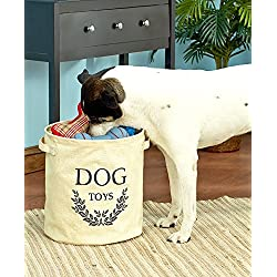 Dog Toy Storage Bucket (Beige) By GetSet2Save