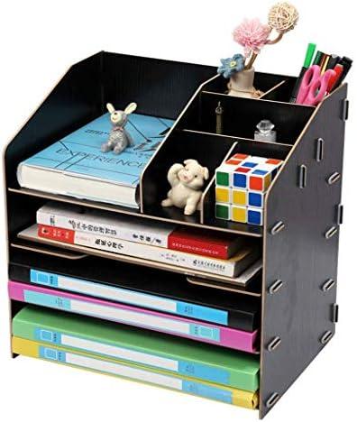 IAIZI Aktenhalter Einfaches Bücherregal Multi-Layer-Ordner Aufbewahrungsbox Schublade Datei Box Convenience (Farbe: C) ZGHE (Color : B)