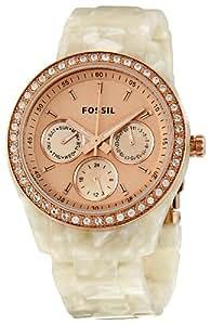 Fossil Women's ES2887 Stella Rose Gold Dial Watch