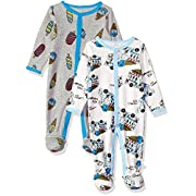 Rosie Pope Baby Boys Coveralls 2 Pack, Gray Ice Cream, 3-6 Months