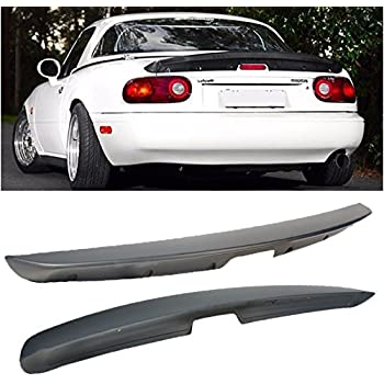 VXMOTOR KG Works Style ABS Plastic Rear Trunk Lid Wing Spoiler for 1990-1997 Mazda Miata MX5