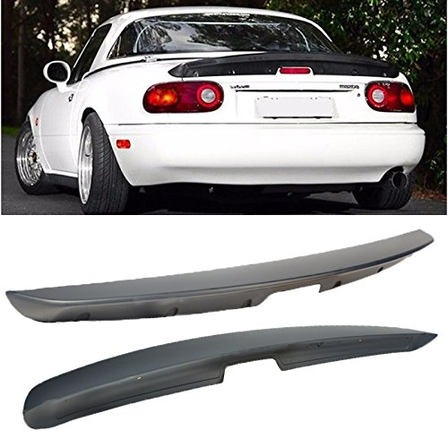 VXMOTOR KG WORKS Style ABS Plastic Rear Trunk Lid Wing Spoiler For 1990-1997 Mazda Miata MX5 (Mazda Miata Trunk)