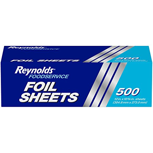 Reynolds Foodservice Aluminum Foil Sheets - 12 x 10.75 Inches, 500 -