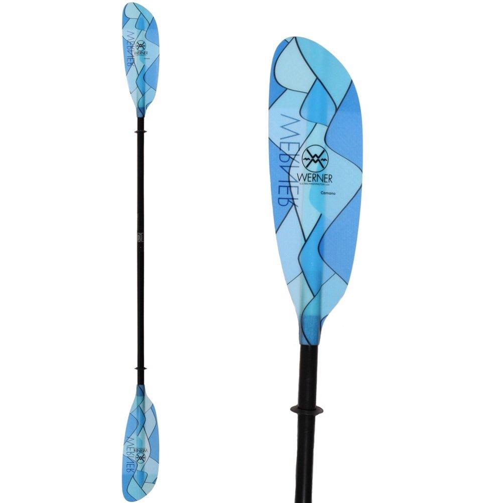 Werner Camano Smallシャフトプレミアムファイバーグラス製カヤックパドル 220 cm Swellz Blue B01B8Q4UGE