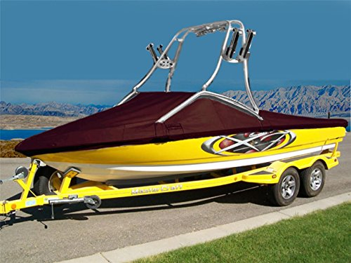 (7oz Solution Dyed Polyester Material Custom Exact FIT Boat Cover Correct Craft Super AIR NAUTIQUE 210 W/Flight Control 3 Tower W/O SWPF 2009-2010 )
