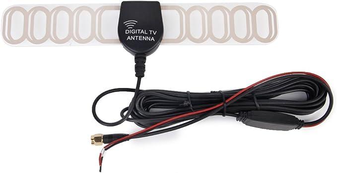 12V SMA Antena Digital Para TV Amplificador de Antenade Coche