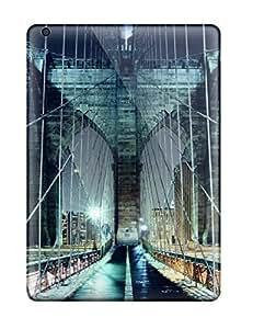New Premium Flip Case Cover Brooklyn Bridge Walkway Skin Case For Ipad Air