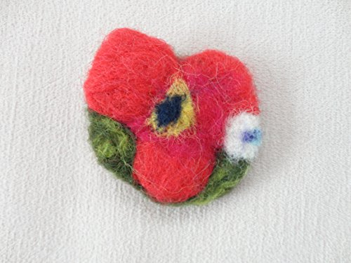 Review Handcrafted Felt Brooch, Needle