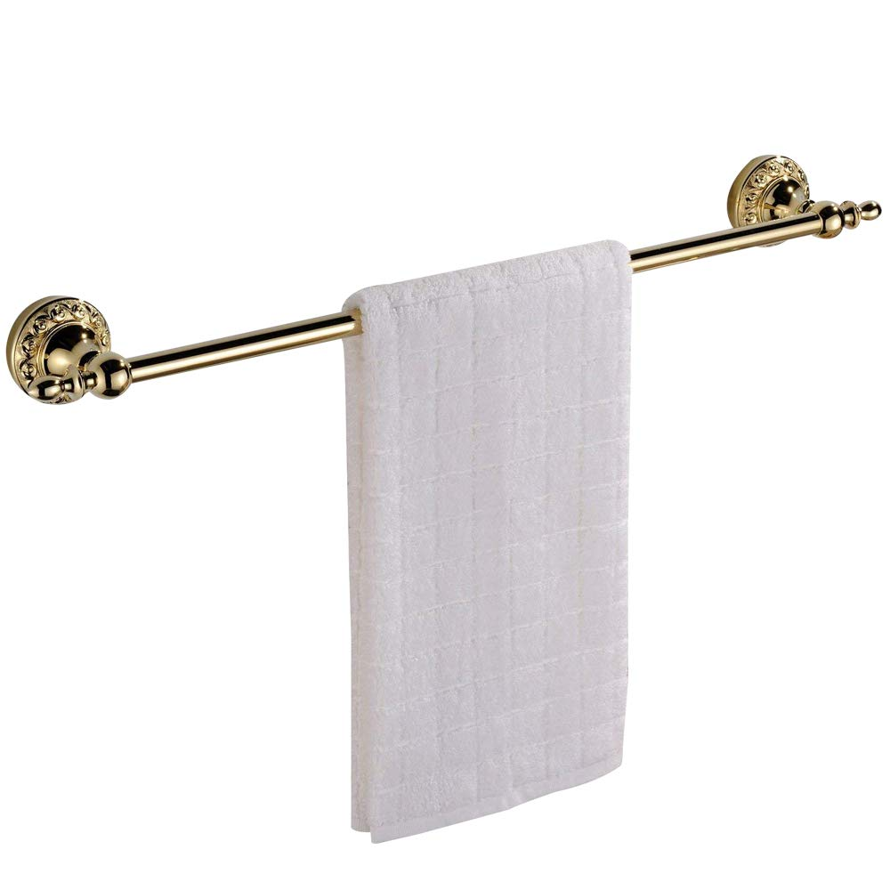 Leyden Wall Mount Bathroom TI-PVD Gold Finish Brass Material Toilet Paper Holder