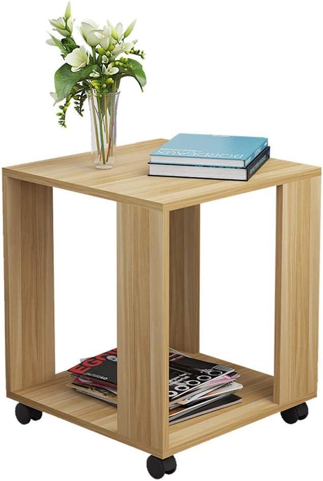 Uitverkoop NYDZDM salontafel, salontafel, salontafel, woonkamer, salontafel, vierkant, met wieltjes 50x50x48cm l0TCvIs