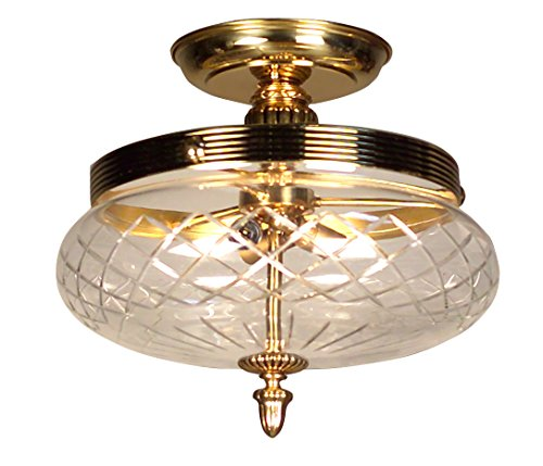 Classic Lighting 57320 BBK Chatham, Cast Brass, Flush/Semi-Flush, Bronze with Black Patina