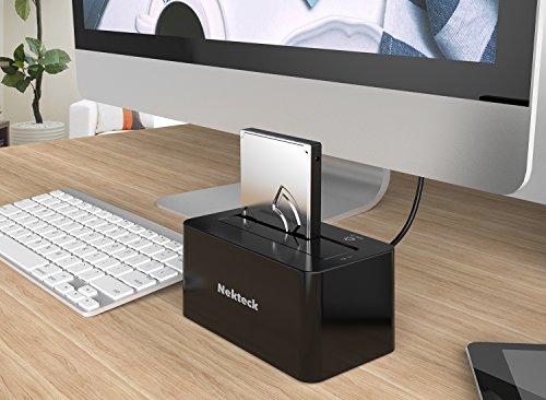 Nekteck USB Type C USB3.1 (USB-C) to SATA 2.5/3.5 Inch External Hard Drive Disk Docking Station Enclosure for for 3.5'' 2.5'' SATA HDD and SSD [Support Up to 8TB] - Tool Free, 1 Bay by Nekteck (Image #6)