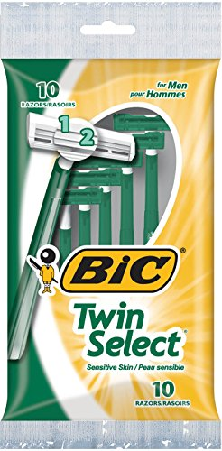 - BIC Twin Select Twin Blade Shaver, Men, 10-Count (Packs of 12)