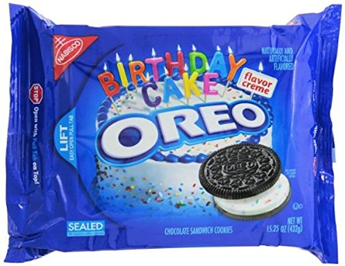 Oreo Chocolate Sandwich Cookies, Birthday Cake Flavor, 15.25 oz (2 (Birthday Cookie Cakes)