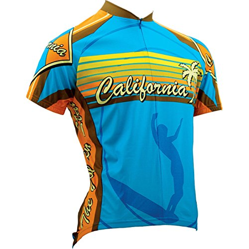 2b75b8fa1 Amazon.com   Canari Cyclewear California Souvenir Jersey - 12110 (Blue -  XS)   Sports   Outdoors